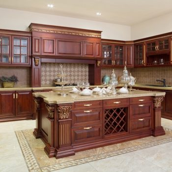 High-End-Dark-Wooden-Kitchen-WIth-Gold-Accents-Mississauga