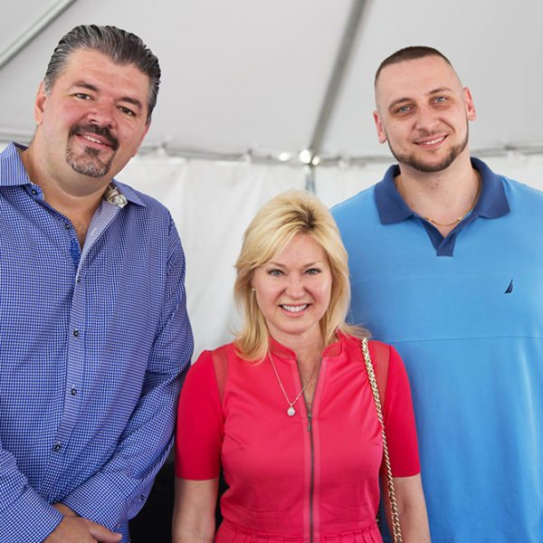 Grand opening of Sam McDadi Real Estate Clarkson Office- In this picture Mario Causevic, Zoran Dakovic & Bonnie Crombie.