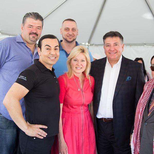 Grand opening of Sam McDadi Real Estate Clarkson Office-In this picture Mario Causevic, Sam McDadi & Zoran Dakovic, Bonnie Crombie, Charles Sousa & Charles Sousa.