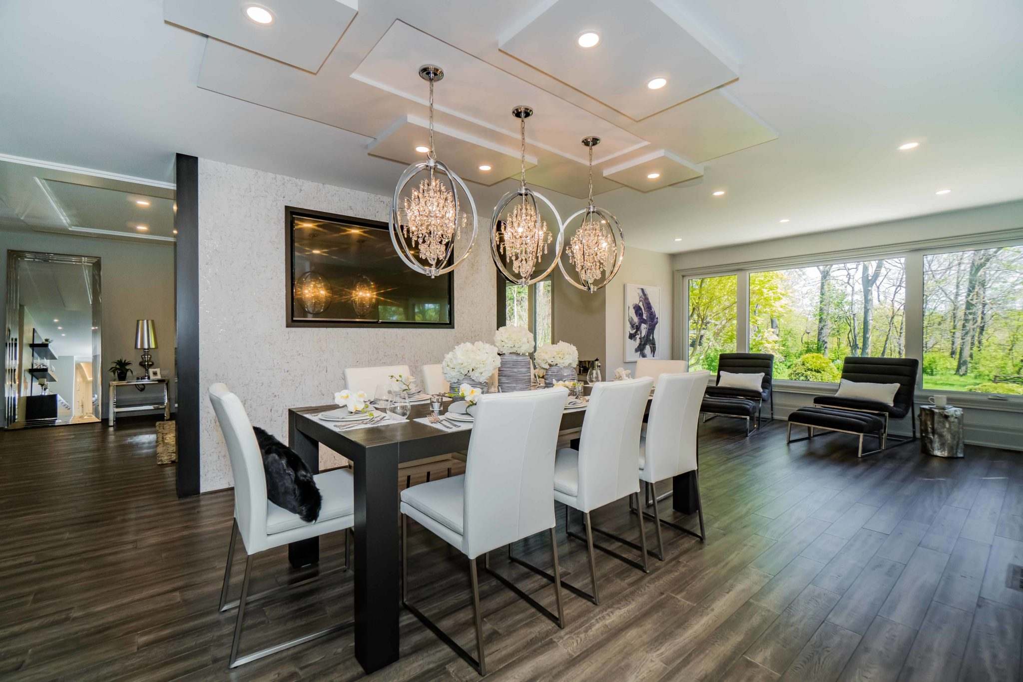 LIVING, FAMILY AND DINING ROOMS