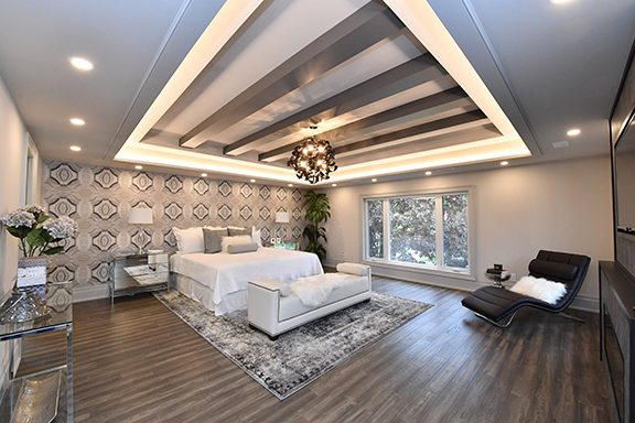 BEDROOMS, WALK-IN CLOSETS, IN-HOME OFFCE
