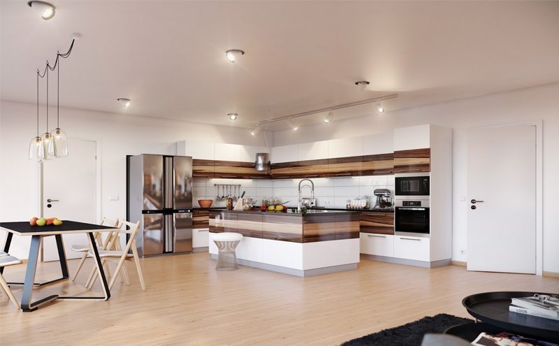 Reasons To Renovate Your Home- Kitchen lights and floor remodeling