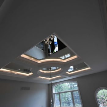 Glass top square ceiling - Custom homes and Complete renovation by Maki Construction in Mississauga
